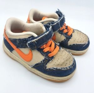 Nike Toddler Casual Sneakers Shoes Velcro Denim